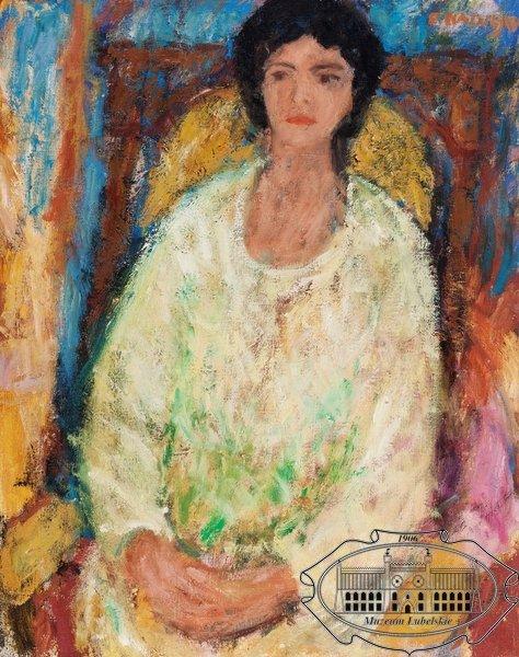 Portret Żony, ok. 1972, olej, płótno, 68/54 cm