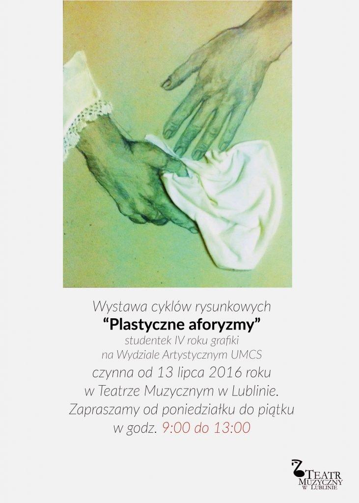 plakat na wystawe rysunku